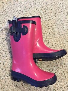 Rubber boots for girls, size 13