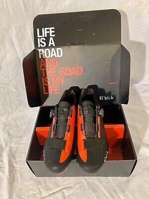 Fizik R5 UOMO BOA Road Bike Cycling Shoes 44, Black & Red