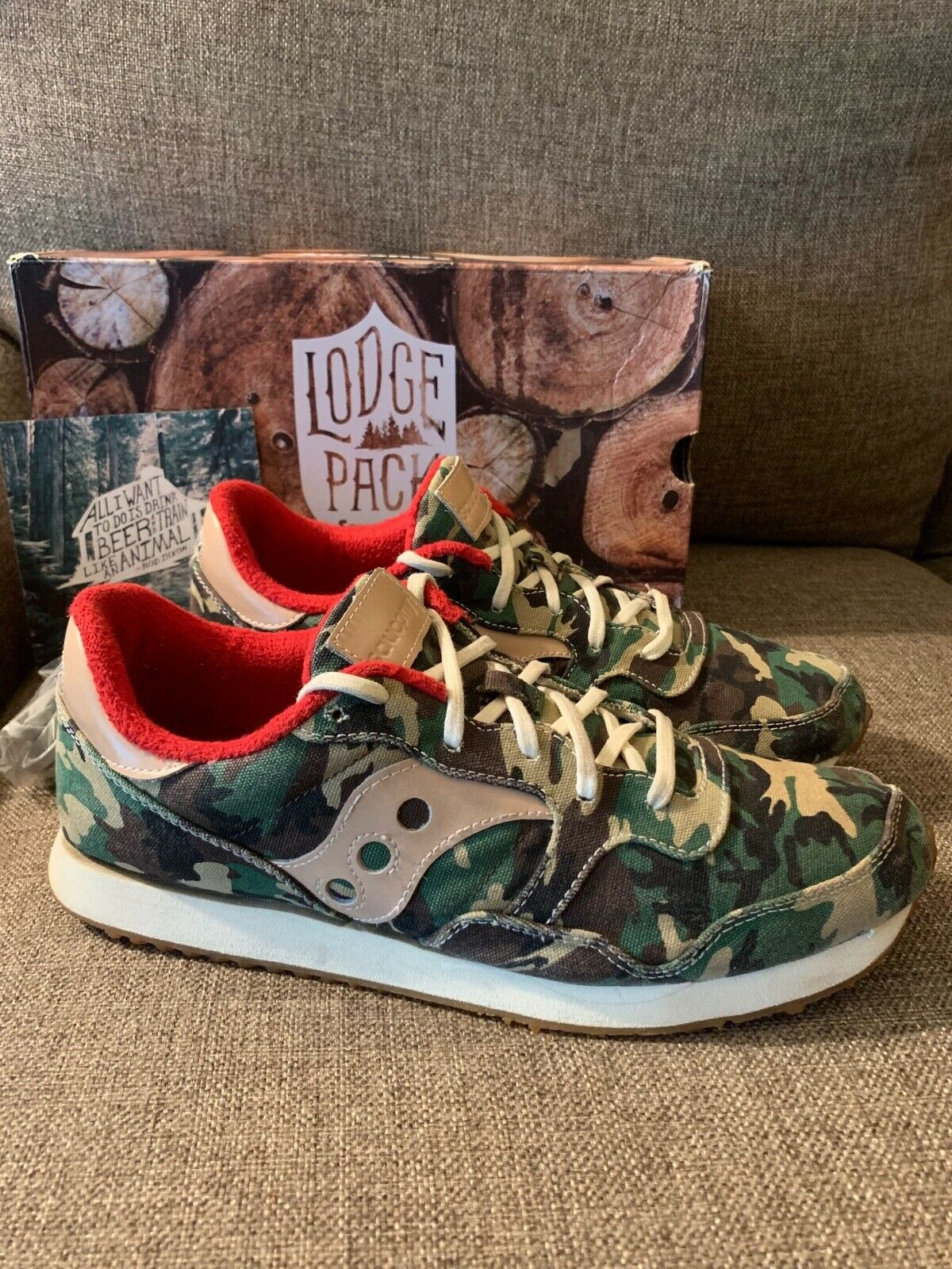 SAUCONY DXN Trainers Lodge Pack CAMO, size 11 Mens, Excellent Condition