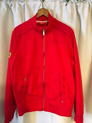 Vintage Red puma ferrari Mens Full Zipper jacket Size L Large