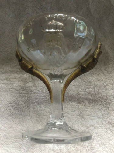 Antique 1910 New Orleans Mardi Gras King Rex Cup Masonic Shriner Krewe