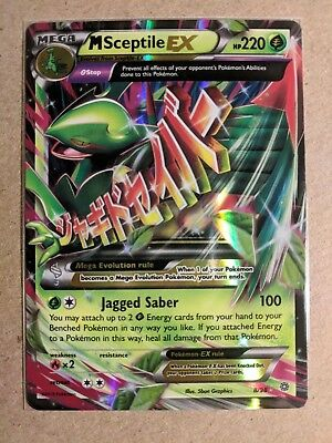 MEGA M Sceptile EX 8/98 Ancient Origins -  Near Mint Pokemon Card Ultra Rare for sale  Nanaimo