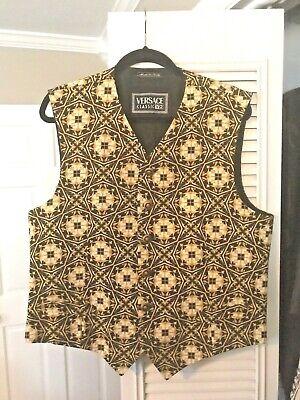 Vintage VERSACE CLASSIC V2 cotton & rayon vest Medusa & Barocco model