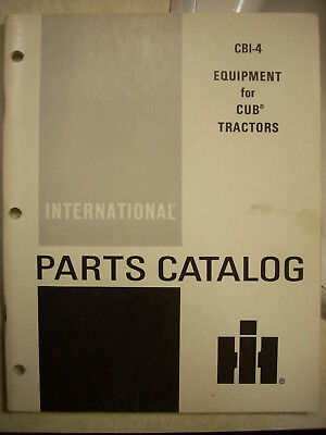 Ih Farmall Mccormick International Cub 154 185 184 284 Equipment Parts Manual