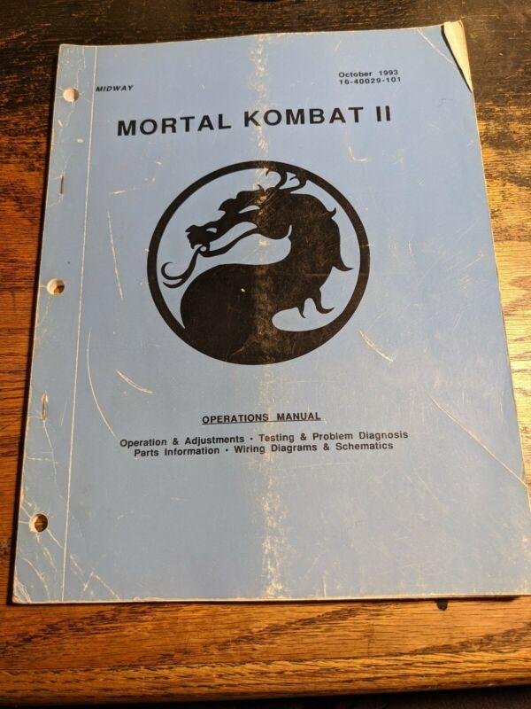 Mortal Kombat II Operation Manual Arcade