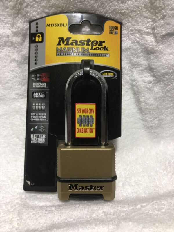 Master Lock Brass Standard Quality Indoor Outdoor Shackle Combination Padlock