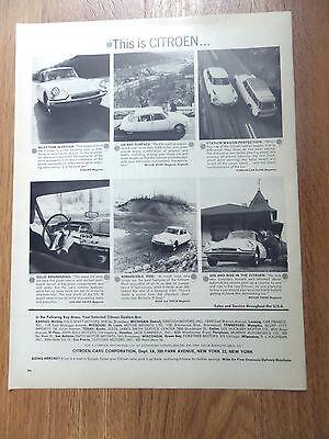 1962 This is Citroen Ad Milestone in Design