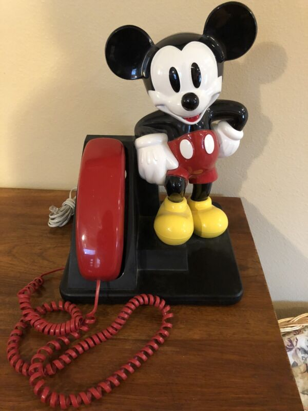 Vintage Disney Mickey Mouse Phone AT&T 1990