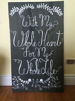 Wedding sign for sale