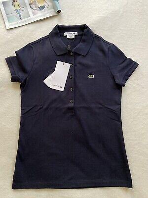 Lacoste Women Basic Polo Shirt Marine Navy Blue Size 34/2  Size 44/12