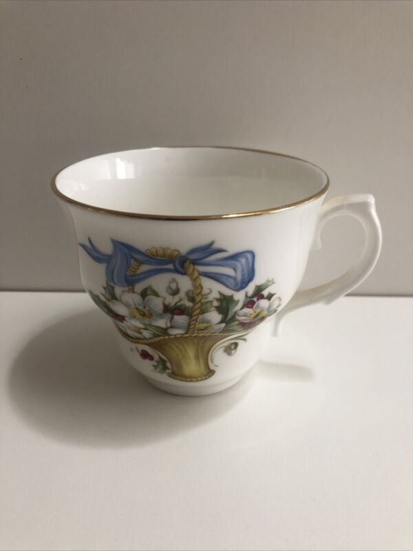 Vintage Arklow Made In Ireland Bone China Teacup Only December Christmas Rose