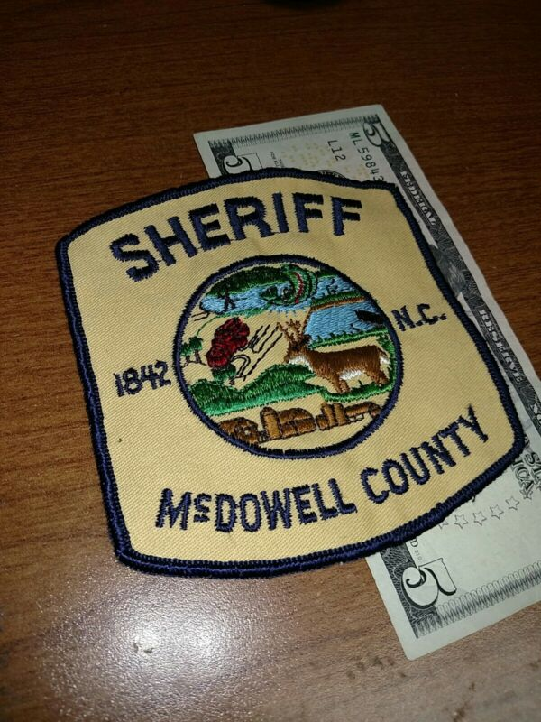 McDowell County North Carolina Sheriff Patch New Old Stock