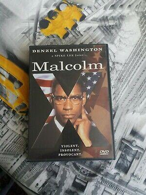 dvd film action thriller MALCOLM X  denzel washington  VF no pay pal rare