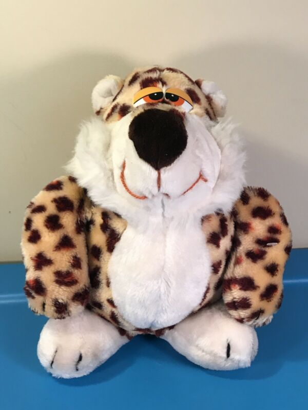 "12"" Plush 4572 Doll Mighty Star Vintage Spotted Cat Leopard Cartoon Character"