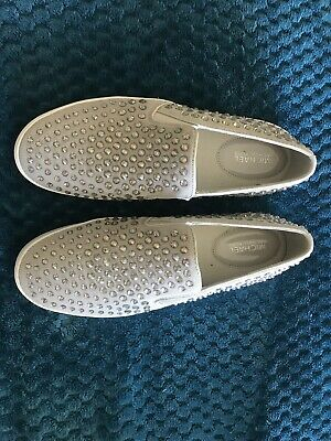 Michael Kors Rhinestone MK Studded Slip On Shoes Sneakers sz 9.5