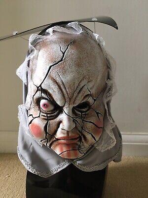 Horror Halloween Latex Evil Damaged Doll Face Mask With Hood ()