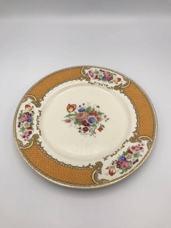 "THE BOUQUET Dinner PLATE BY MYOTT - RARE Yellow/Orange Version 9 3/4"" Diameter"