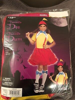 Halloween Costume Girls Tweedle Dee Tweedle Dum Medium or - Tweedle Dee Tweedle Dum Halloween