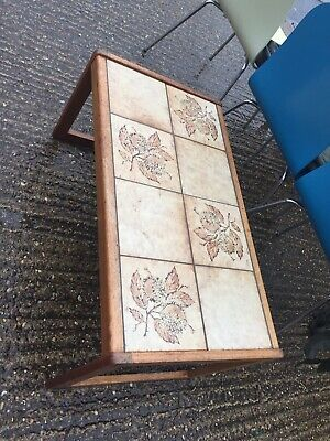 Englender - Retro Tile Top Coffee Table - Mid Century Wooden