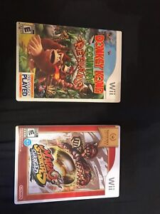 Donkey Kong and Mario strikers charged wii