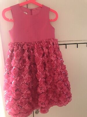 Girls Cinderella Rose Pink Tulle Tutu Party Dress Age 4 Lovely 3 Layers Skirt