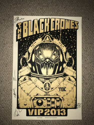 Autographed Black Crowes 2013 VIP Poster