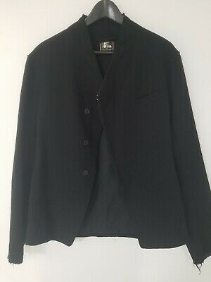 Authentic Lost & Found By Designer Ria Dunn Men's like rick Owen's Black Jacket