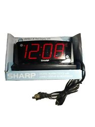 SHARP LED Alarm Clock with Nightlight and Jumbo Red Display Model no. SPC1225