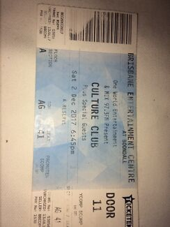 CULTURE CLUB TIX TONIGHT!!!