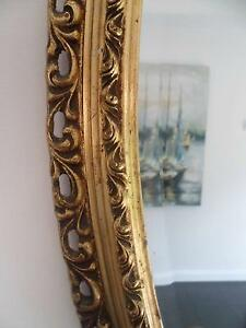 Large Antique Oval mirror in golden frame Leichhardt Leichhardt Area Preview