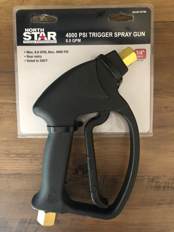 North Star Item # 44789 4000 PSI Trigger Spray Gun 8 GPM (rated to 250 degrees)