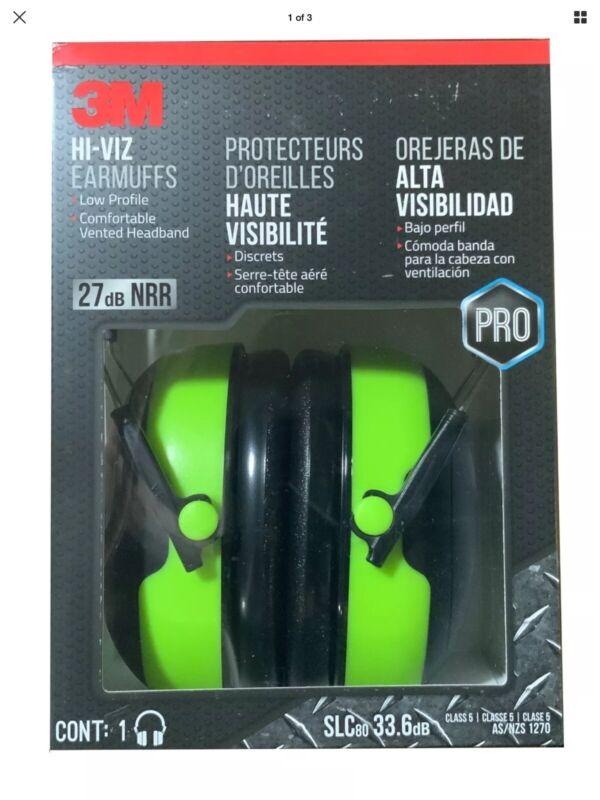 3M Pro Series Hi-Viz Earmuffs