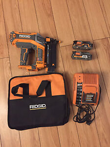 RIDGID 18 gauge brushless nailer