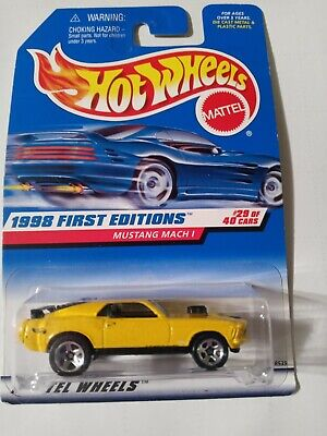 1998 Hot Wheels 670 First Edition 29/40 Ford MUSTANG MACH 1 -5 spoke