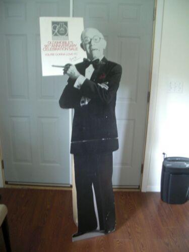 VERY RARE 1987 Oldsmobile 90th Anniversary George Burns 6' Cardboard Cutout