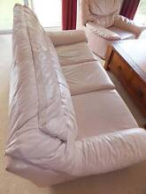 Real Leather 3Pce Lounge in perfect condition - Soft Hyde Leather Nerang Gold Coast West Preview