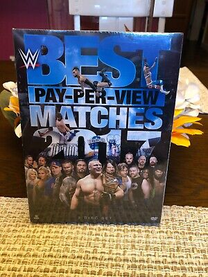 WWE: Best Pay-Per-View Matches 2017 (DVD, 2018, 3-Disc