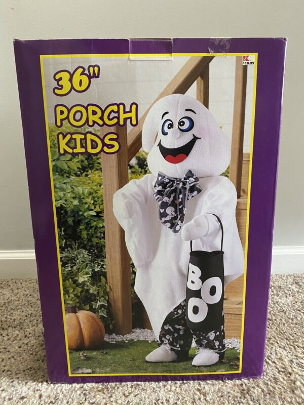 """New Never Used Vintage 36"""" Porch Kid Standing Ghost Halloween Decor"""