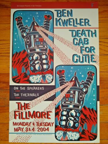 Death Cab for Cutie FILLMORE POSTER Ben Kweller Bill Graham F616 SEE OTHER ITEMS