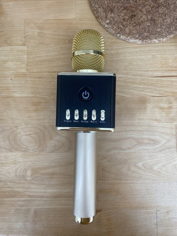 Portable karaoke microphone with bluetooth