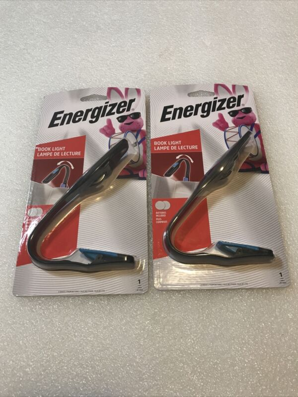 Energizer Clip On Battery Operated Book Light Lot Of 2 Latest Model New & Sealed