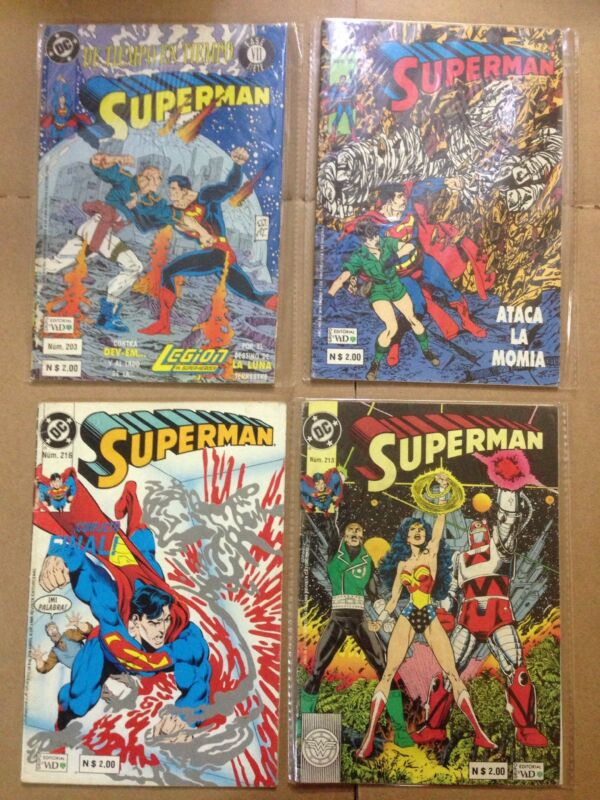 DC Comics Superman Comic Spanish, In Color, Lot Of 4 (90