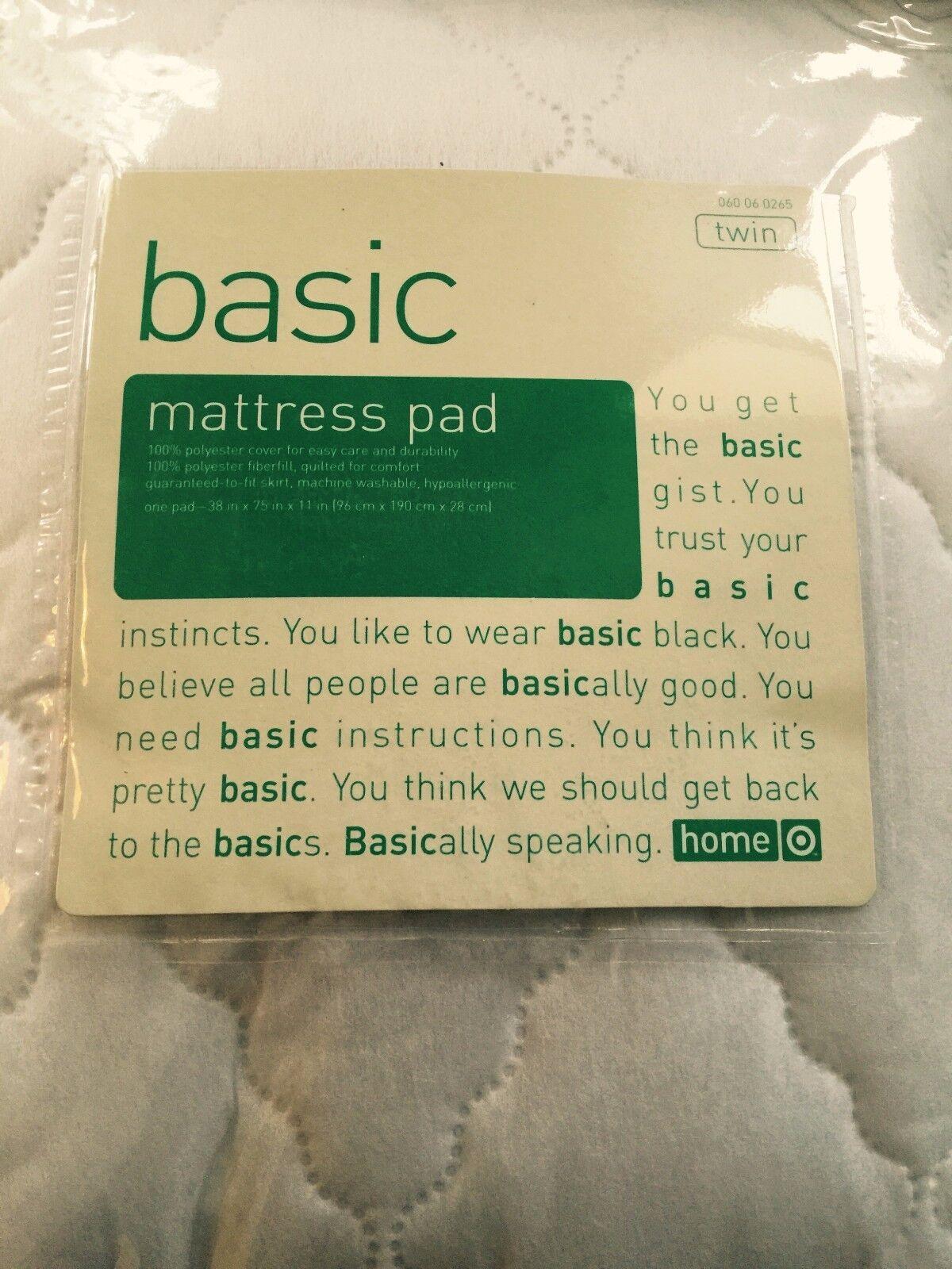 basic twin mattress pad 38 x 75