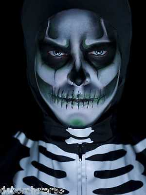 Smiffys Skeleton Makeup Kit GID Halloween Horror Face Painting How to Pictures