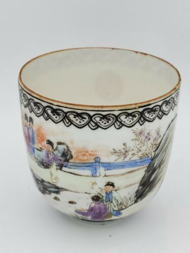 Old Chinese Thin Porcelain Hand Decorated Cup 2.5