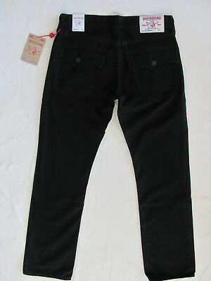 True Religion Straight Jeans - Flap Pockets -Black -Size 33 -NWT $229