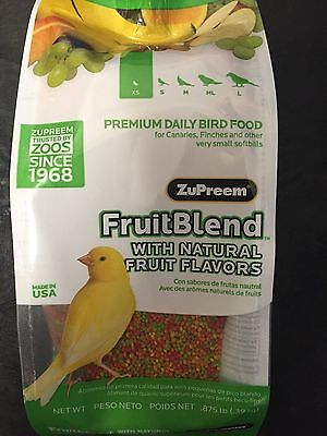Zupreem FruitBlend XS Canary Finch bird Food Avian fruit blend pellet diet 14oz