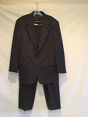Mens/Boys LAMBERTI 2 Button Wool Suit-Navy-32 Reg-Italian Made](Boys Wool Suits)