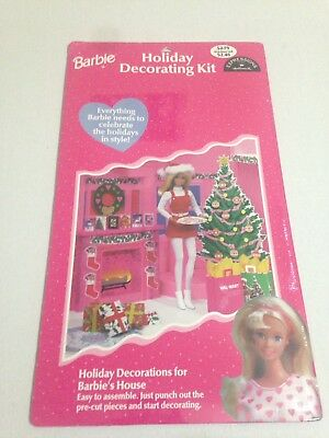 Barbie Holiday Decorating Kit Hallmark Walmart Edition 1998