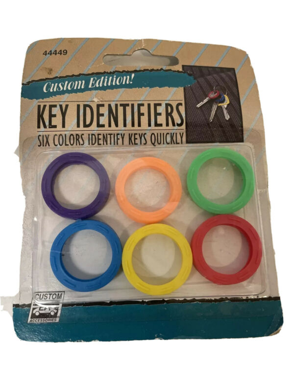 Custom Accessories  6 Assorted Color Key Identifiers